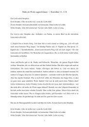 Mehr als Worte sagen können – 1 Korinther 13, 1-18 - EMK Winterthur