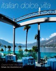 italian dolce vita Grand Hotel Villa Serbelloni - Grand Hotel Tremezzo