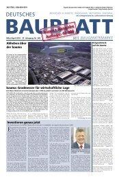 bauma-Ausgabe Aufl age: 42 000 - Deutsches Baublatt