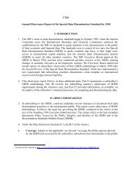 Annual Observance Report of the Special Data Dissemination ...