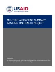 Mid-Term Assessment Summary: Banking on Health
