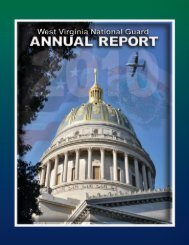 2010 Annual Report - West Virginia Army National Guard - U.S. Army