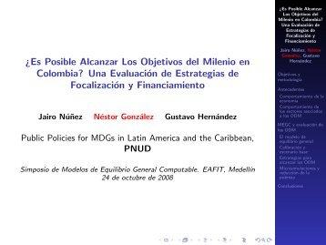 Â¿Es Posible Alcanzar Los Objetivos del Milenio en Colombia? Una ...
