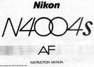 Nikon N4004s AF Instruction Manual