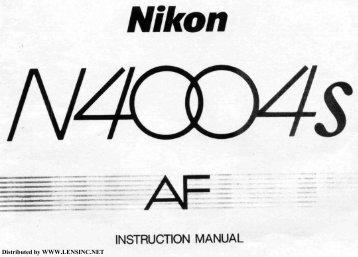 nikon n4004s af instruction manual rh yumpu com Nikon F7 Nikon F401