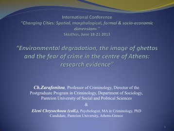 """""""Environmental degradation, the image of ghettos and the fear of ..."""