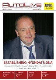 ESTABLISHING HYUNDAI'S DNA - Autolive.co.za
