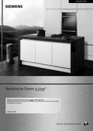 s Technische Daten - Siemens Hausgeräte