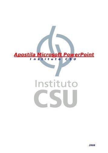Apostila de PowerPoint - Instituto CSU