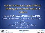 Re-operative Failure To Rescue (r-FTR) - Imperial College London