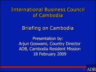 International Business Council of Cambodia - ACLEDA Bank Plc.