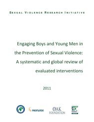 Engaging Boys and Young Men in the Prevention of ... - MenEngage