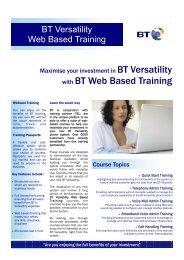 BTV Web Based Training Datasheet Issue 1.pub - BT Business