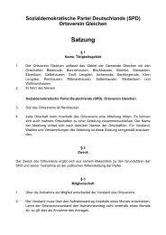 Satzung - SPD Ortsverein Gleichen