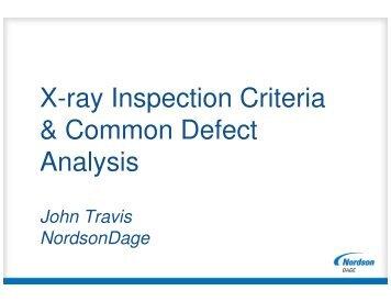 X-ray Inspection Criteria & Common Defect Analysis - SMTA