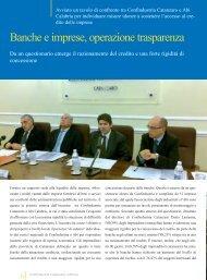 Banche e imprese, operazione trasparenza - CONFINDUSTRIA ...
