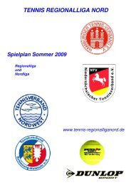 RL Herren - Tennisverband NORDWEST eV
