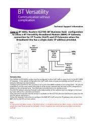 BTV Communications Server Access Information - BT Business