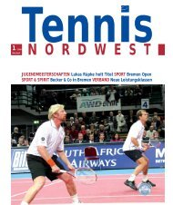 1· 2009 - Tennisverband NORDWEST eV