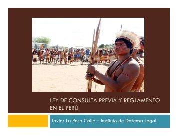LEY DE CONSULTA PREVIA Y REGLAMENTO EN EL PERÚ - ONPE