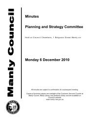 6 December 2010 - Manly Council