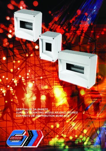 centralini da parete surface mounting modular enclosures coffrets ...