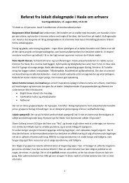 Referat fra lokalt dialogmøde i Hasle om erhverv