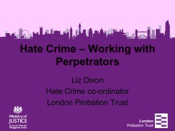 Hate Crime - CEP, the European Organisation for Probation
