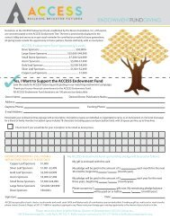 Endowment Fund Giving Opportunities Pledge Form
