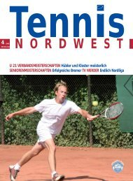 Tennis NORDWEST 4-2009 - Tennisverband NORDWEST eV