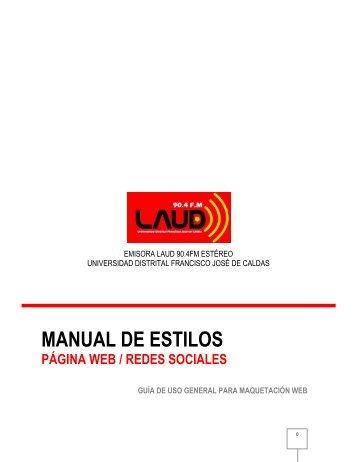 MANUAL DE ESTILOS - LAUD 90.4