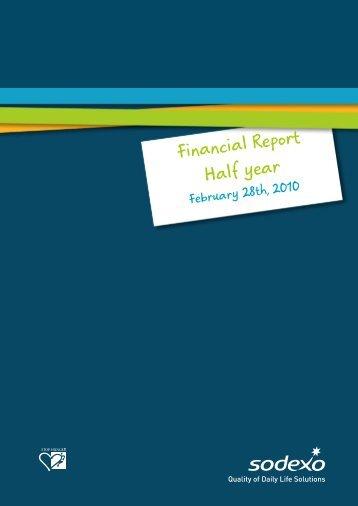 Financial Report Half year