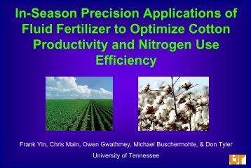 Application Rate - Fluid Fertilizer Foundation