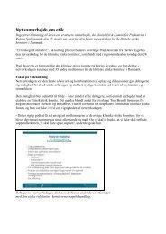 Dannelse af Arbejdsgruppen - Dansk Selskab for Klinisk Etik