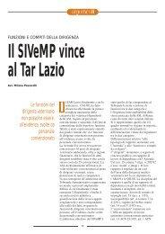 Funzioni e compiti della Dirigenza. Il SIVeMP vince al TAR Lazio