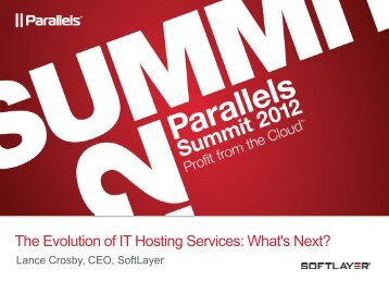 The Evolution of IT Hosting Services: What's Next? - Parallels