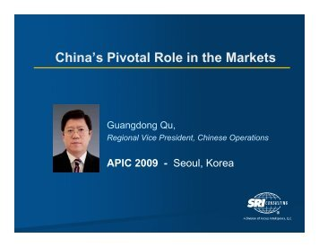 China's Pivotal Role in the Markets - Chemical Insight & Forecasting