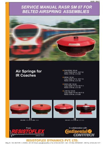instructions for installing air springs - rdso - Indian Railway