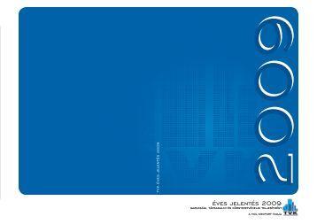 Éves Jelentés 2009 (pdf, 2.7 MB) - TVK