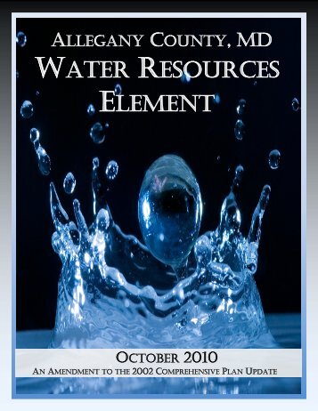 Allegany County Water Resources Element