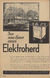 denn das elektrische Kochen ist sauber, bequem und billig. Klären ...
