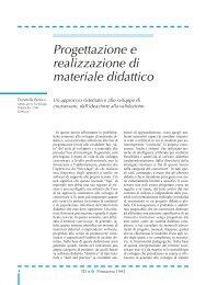 Progettazione e realizzazione di materiale didattico - TD Tecnologie ...