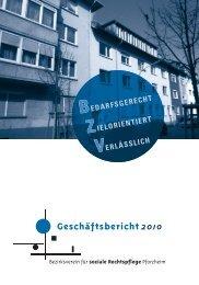 Geschäftsbericht 2010 (PDF) - Über den Bezirksverein für soziale ...