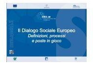 Il Dialogo Sociale Europeo - Forges