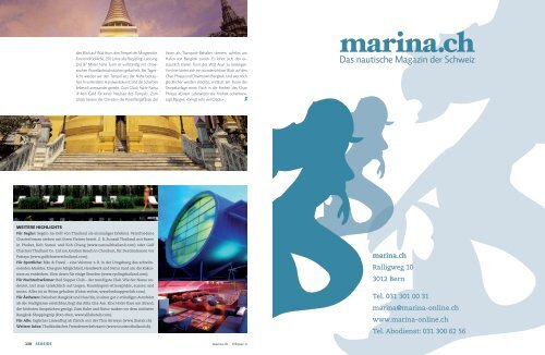 Viel Wasser meist zum Glück - Marina.ch
