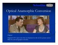 Optical Anamorphic Conversion - Schneider Optics
