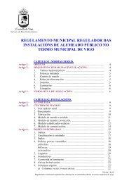 regulamento municipal regulador das ... - Concello de Vigo