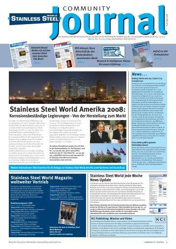 Stainless Steel World Amerika 2008 - Edelstahl Aktuell