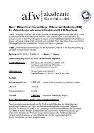 Gepr. Bilanzbuchhalter/Gepr. Bilanzbuchhalterin (IHK)