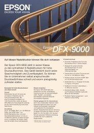 Der Epson DFX-9000 zählt in seiner Klasse zu den ... - Microspot.ch
